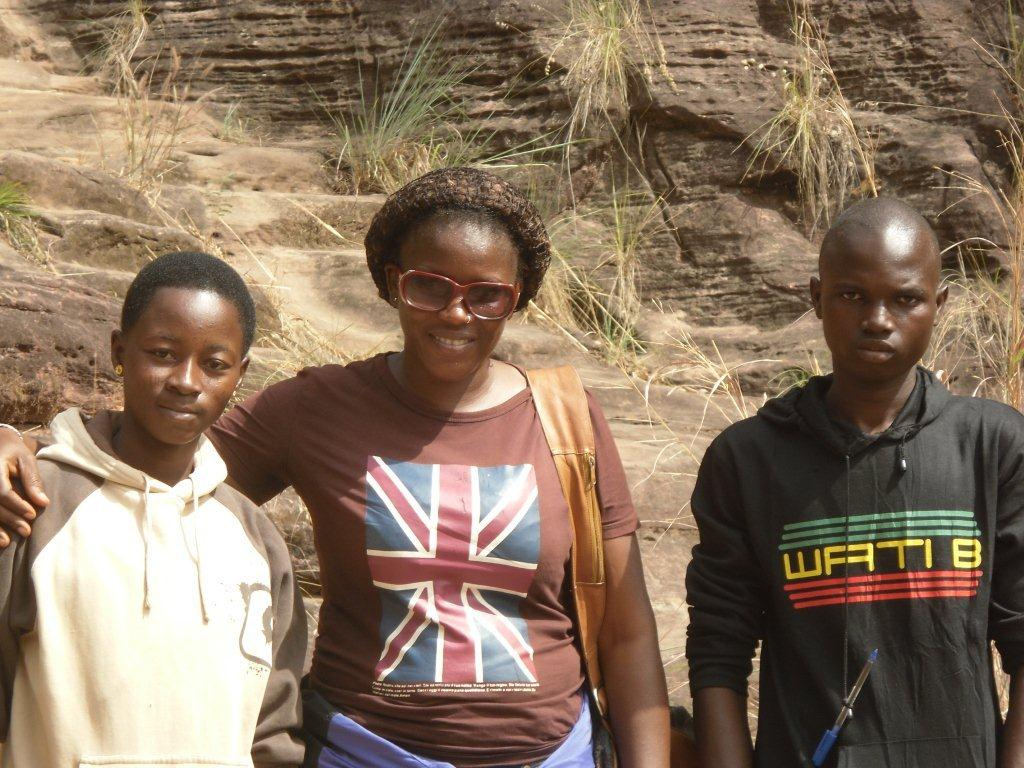 Pauline, Mme la guide et Ali Ouedraogo